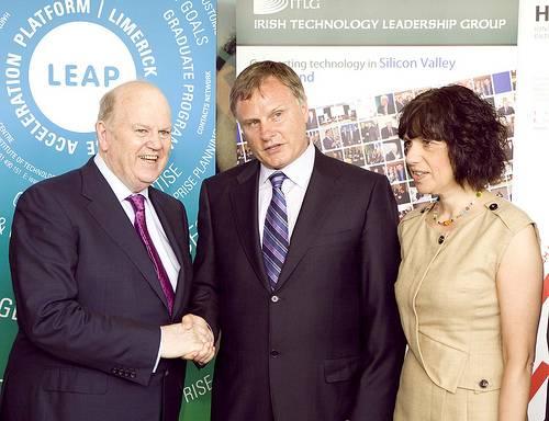 John Hartnett with Minister and President of LIT