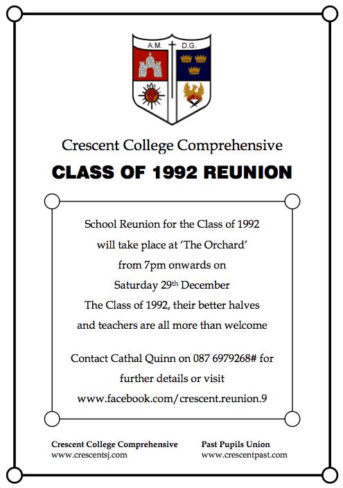 1992 Class Reunion