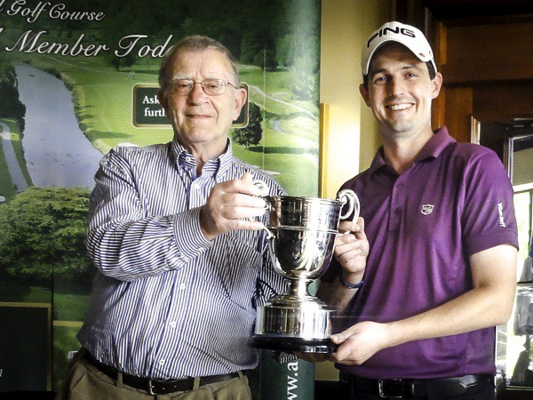Barry Leddin - winner of the Crescent Past Pupils Union Golf Outing 2014