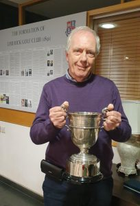Wilton Dennehy accepts the Ignatian Challenge Cup